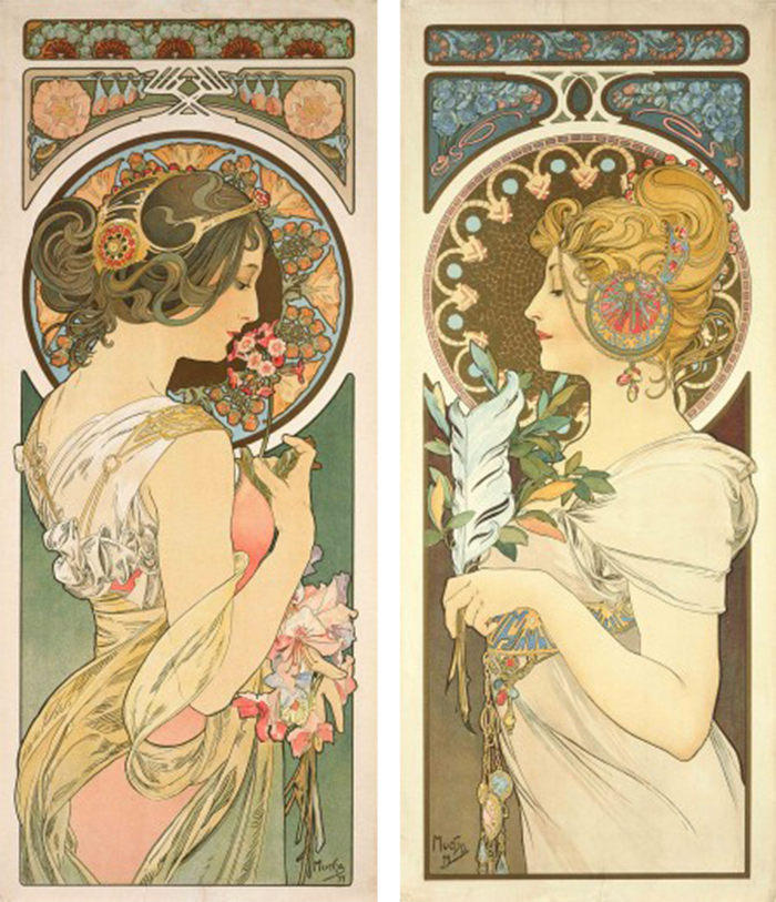 Mucha S Art Nouveau Jewelry The French Jewelry Post By