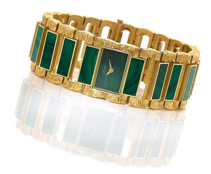 Piaget - Gold and malachite - Estimated €8-12,000 -Ca 1972