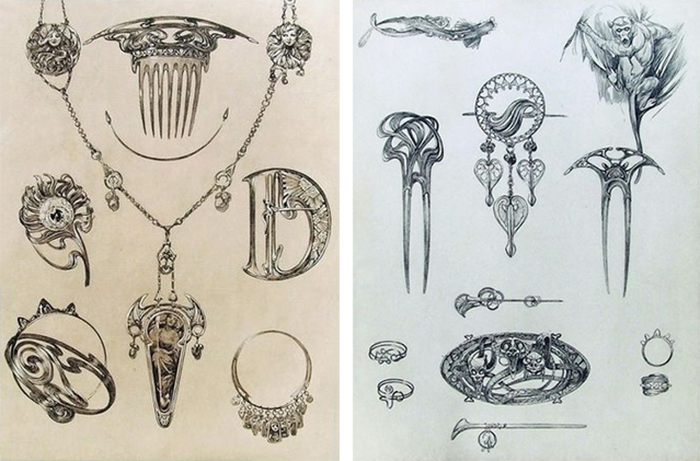 Mucha et les bijoux Art nouveau , The French Jewelry Post by