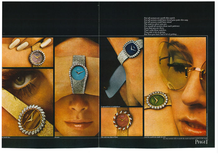 Piaget - Advertisement for Harper's Bazaar, 1969