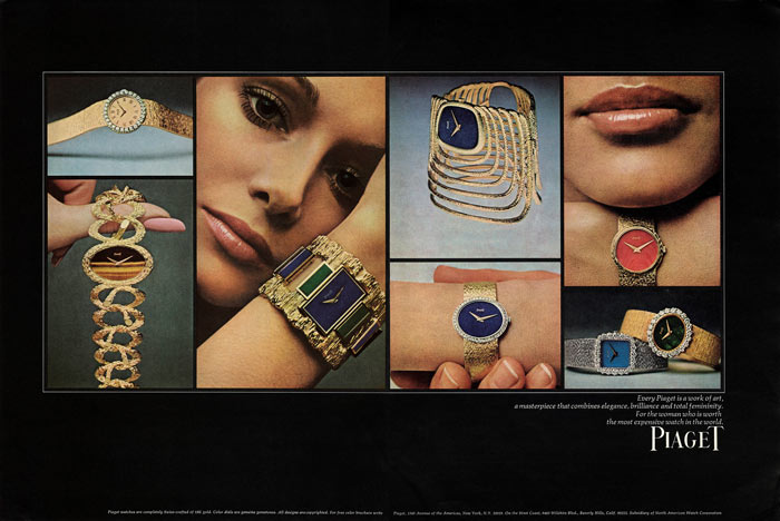 Piaget - Advertisement for Vogue, 1970