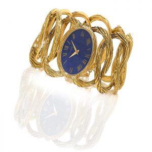 Piaget - En or et lapis-lazuli - Estimée €6-8 000 - Vers 1967