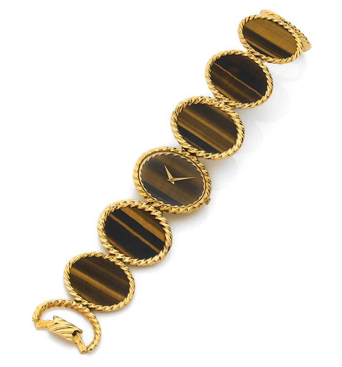 Piaget - Gold and tiger's eye - Estimated €8-12, 000 - Ca 1972