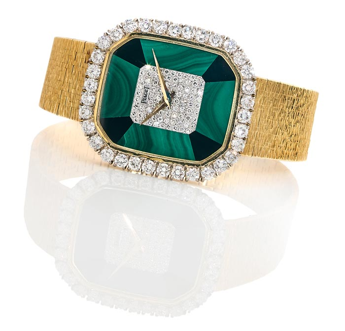 Piaget - Gold, malachite, onyx and diamonds - Estimated €6-8,000 - Ca 1975