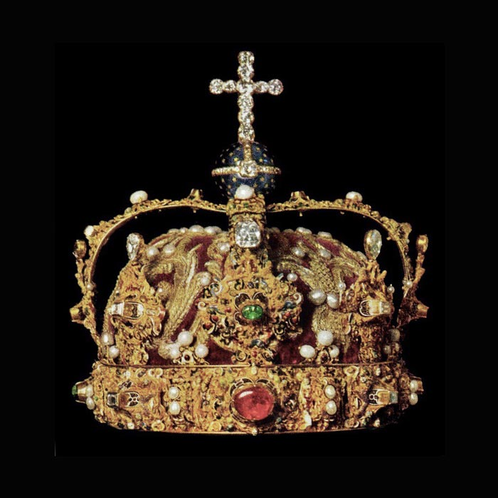 Erik XIV's crown in the vaults of the Royal Treasury