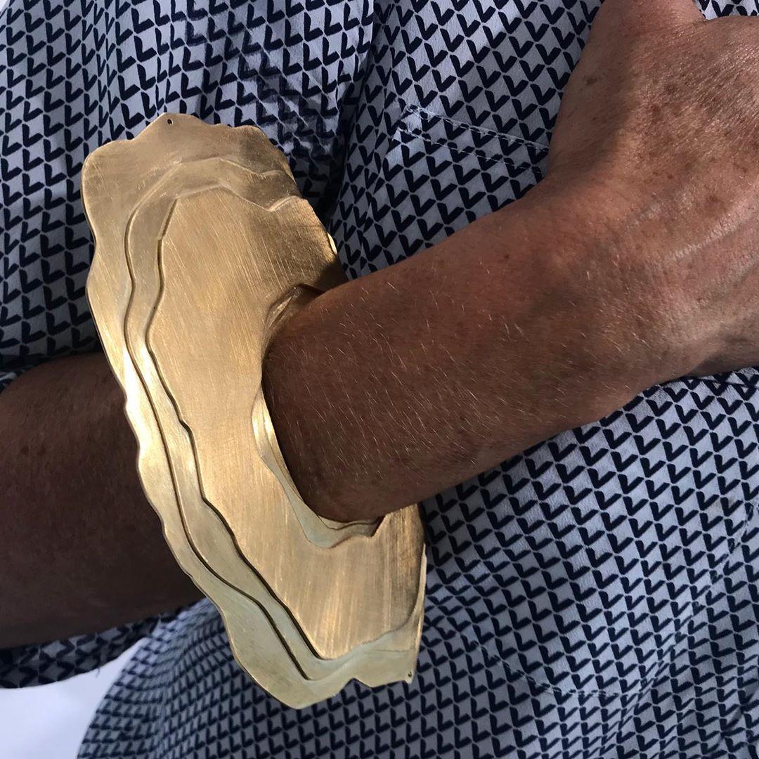Oversized #sediment bracelet by @demaarseparis last @premiereclasseparis #simplybeautiful #geology inspired @natalielacroixparis