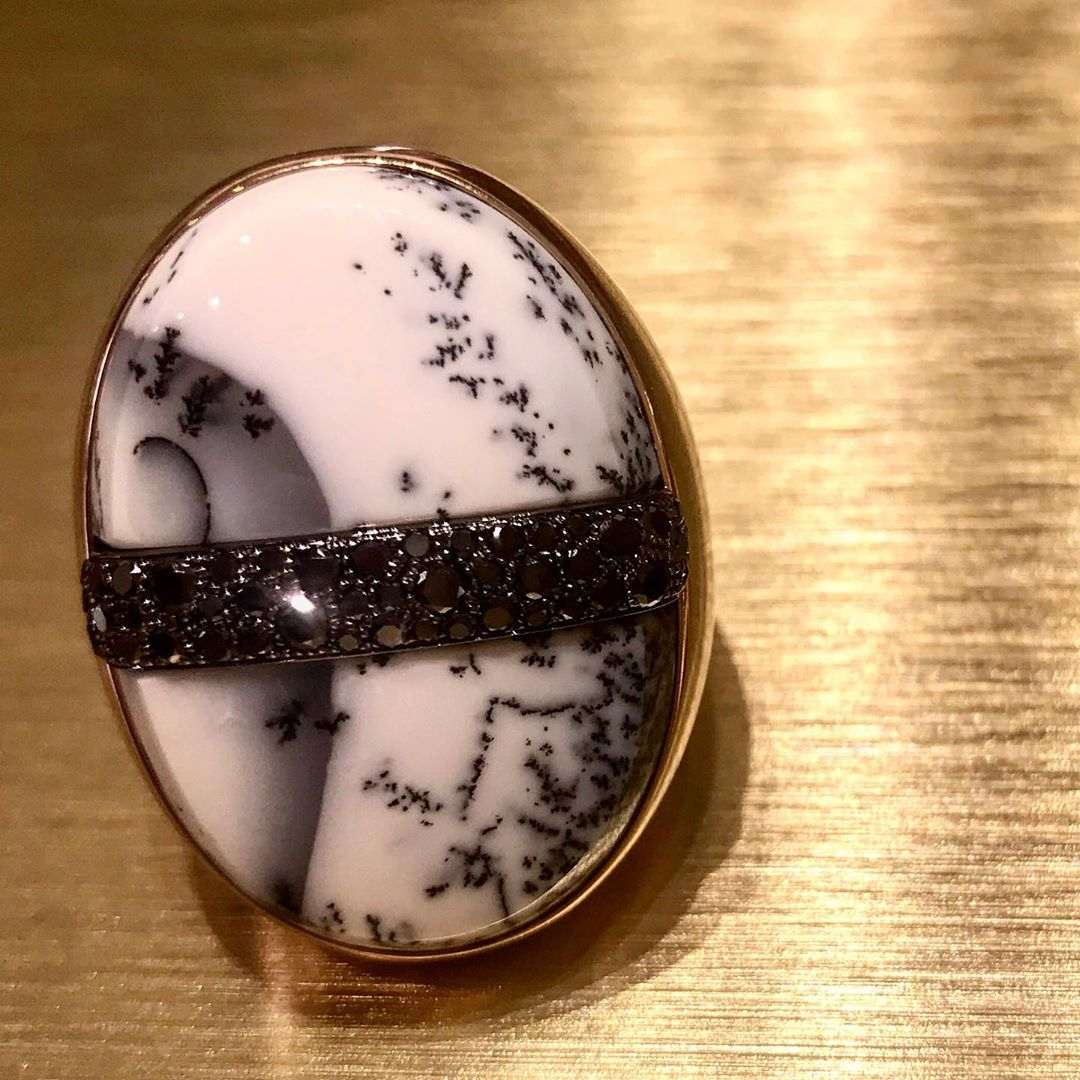 This new @pomellato ring in #dendriticopal is called #japanesesamurai … #passionjapon